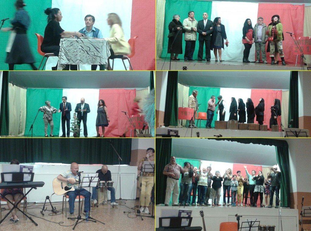 Alcune scene dello spettacolo Teatrale e Musicale della serata
