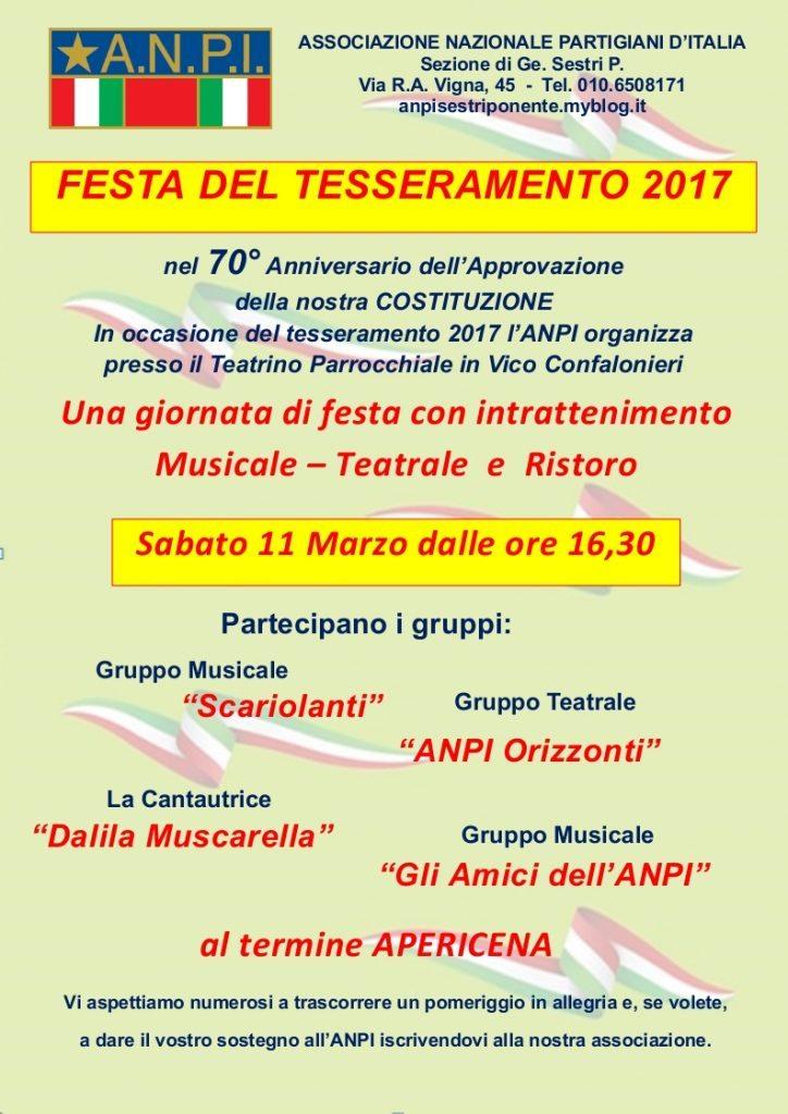 Festa tesseramento 2017