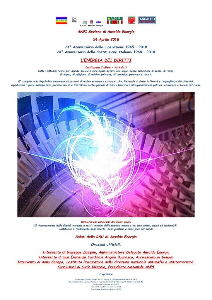 Locandina Manifestazione ANPI 24 Aprile 2018 A3